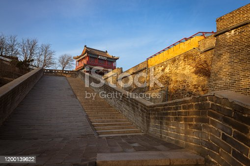 In Qinhuangdao City, Hebei Province, North China, Chenghai tower is located in the old leading great wall of Shanhaiguan. It was built at the end of Ming Dynasty. It is the first tower at the east end of the great wall and directly extends into the Bohai Sea.