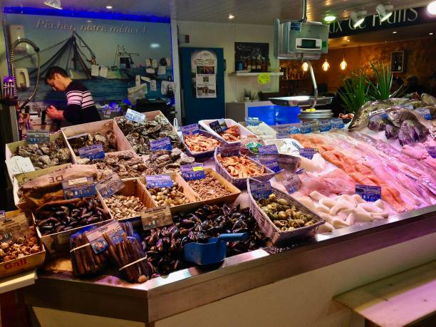 the fish is fresh today - mcdermp stock photos and pictures