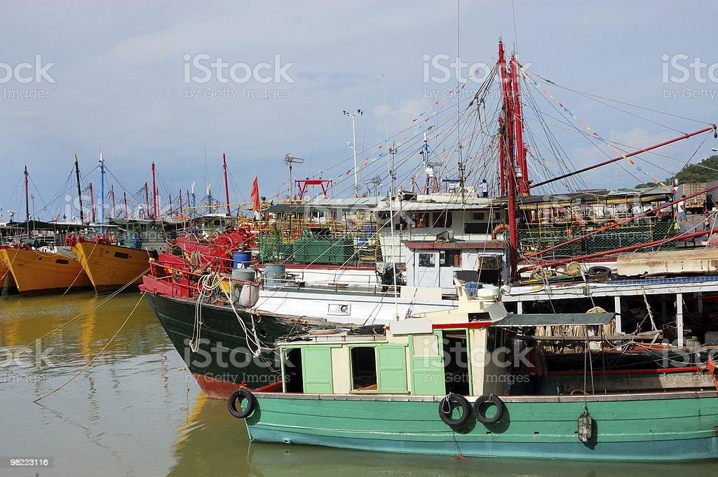 The fishing ships royalty-free stock photo