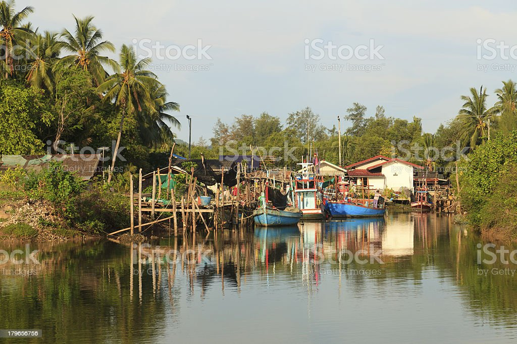 The fishing village royalty-free stock photo