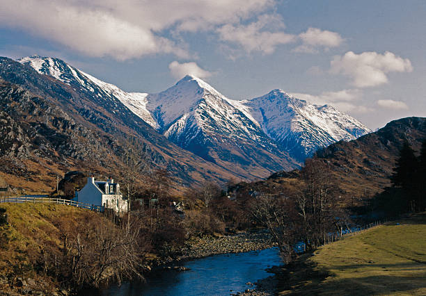 the Five Sisters of Kintail Inverness-shire Scotland stock photo