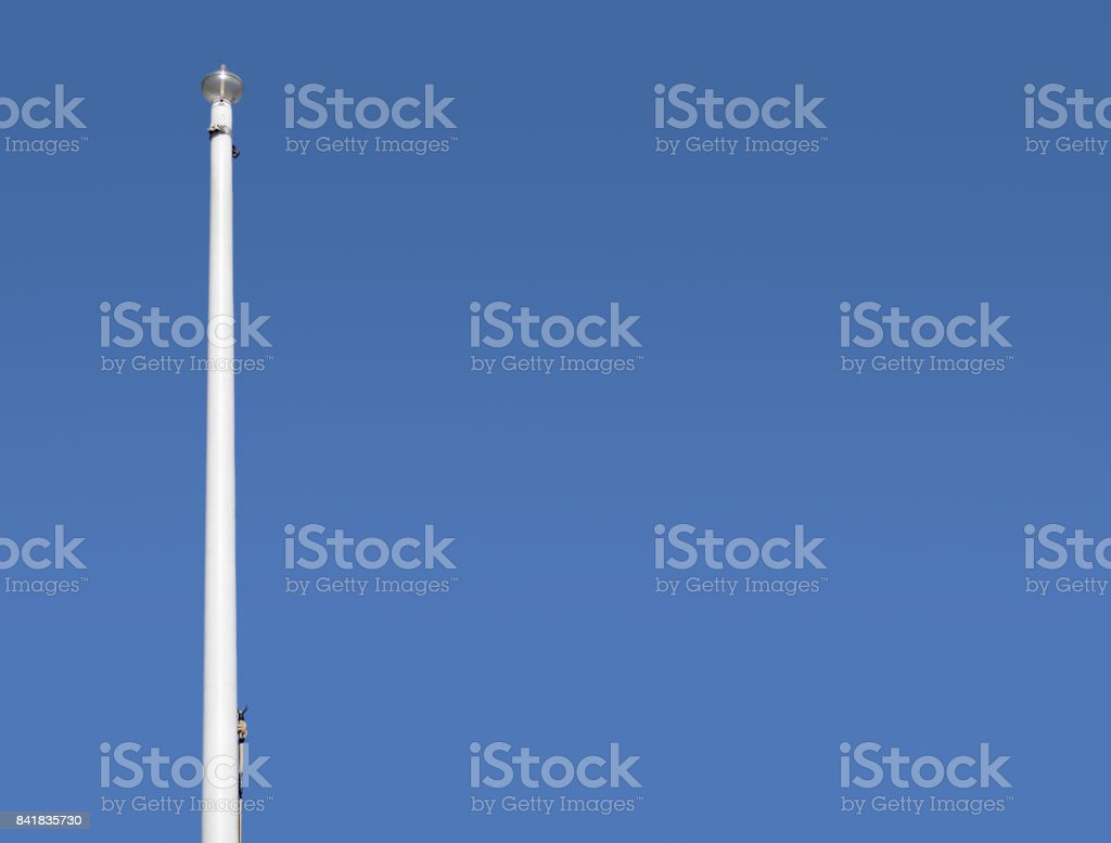 The flag is not there stock photo