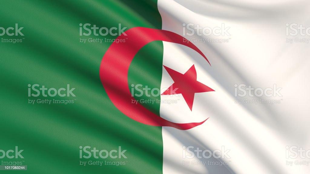 La bandera de Argelia - foto de stock
