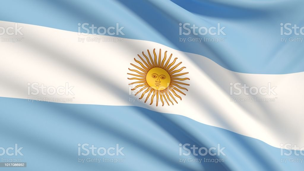 The Flag of Argentina stock photo