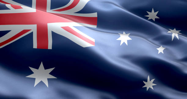 The flag of Australia stock photo