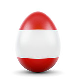 The flag of Austria on a very realistic rendered egg.(series)
