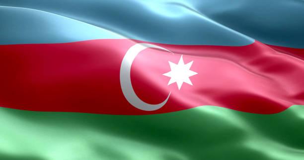 The flag of Azerbaijan stock photo