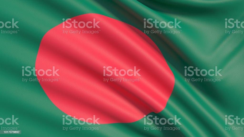 The Flag of Bangladesh stock photo