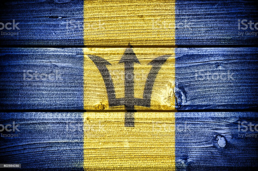 The flag of Barbados stock photo