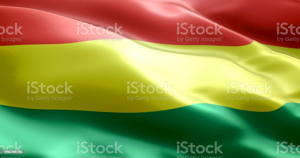 The flag of Bolivia stock photo