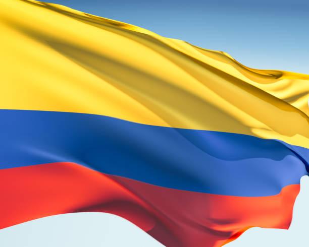 bandera de colombia - bandera colombiana fotografías e imágenes de stock