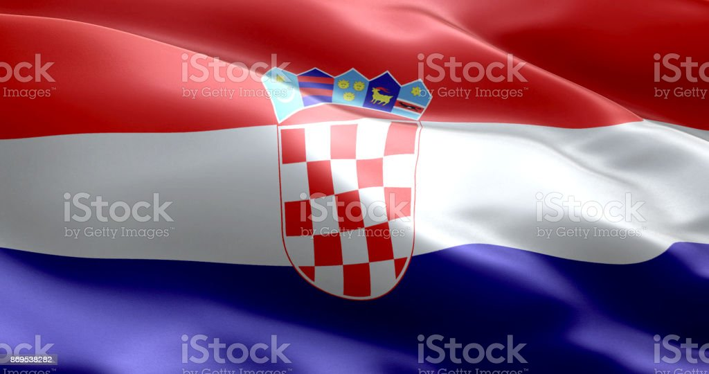 The flag of croatia - foto stock