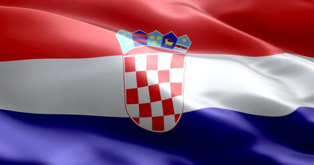 La bandera de Croacia - foto de stock