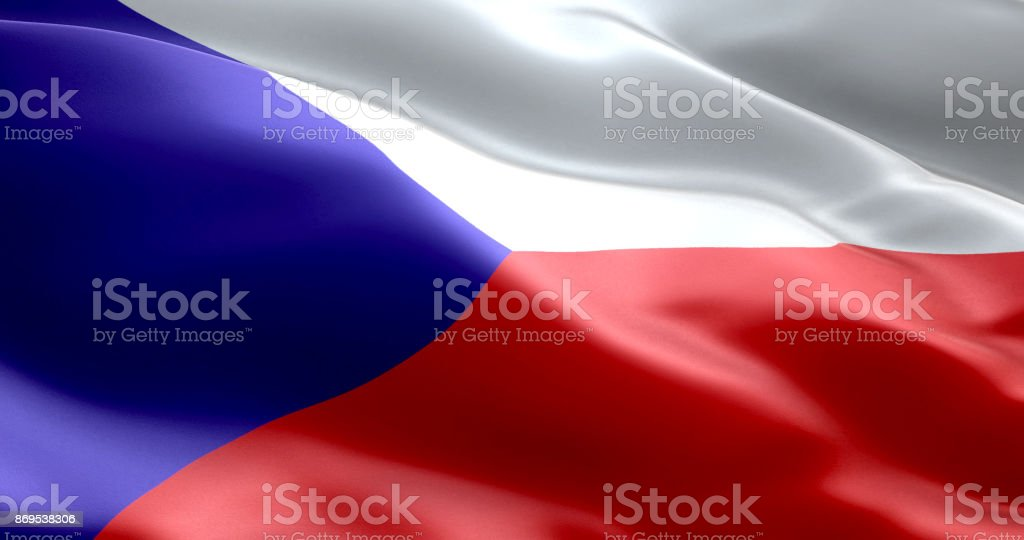 La bandera de República Checa - foto de stock