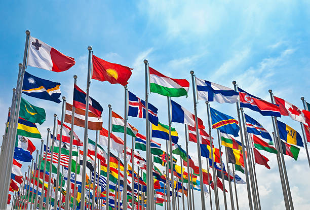 The flag of each country  national flag stock pictures, royalty-free photos & images
