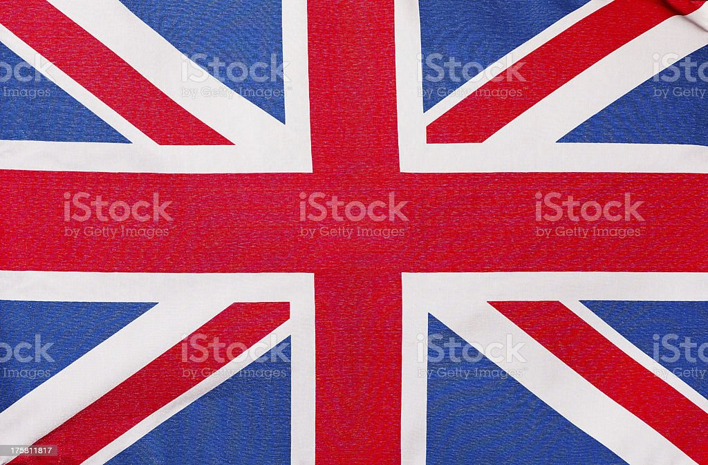 The flag of England, close-up royalty-free stock photo