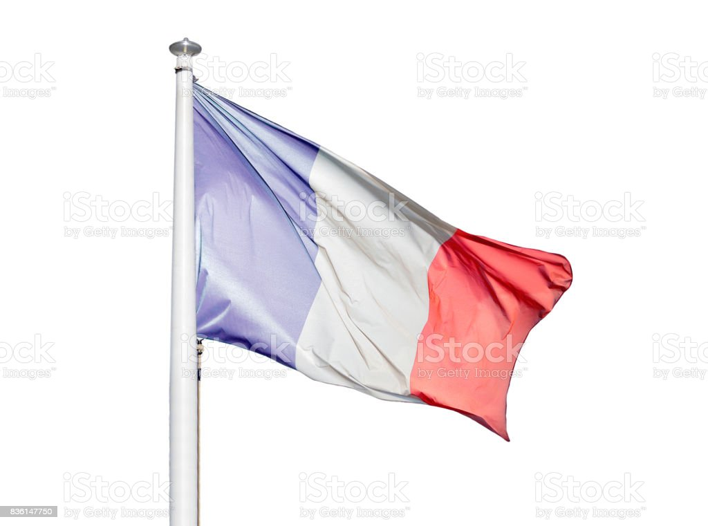 The flag of France isolated stock photo