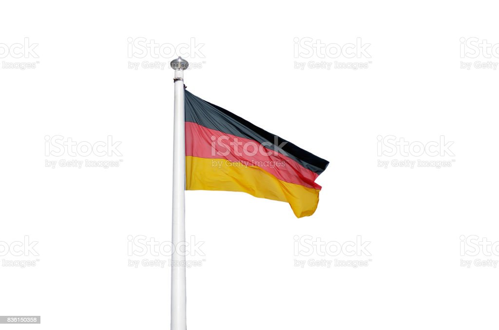 The flag of Germany stock photo