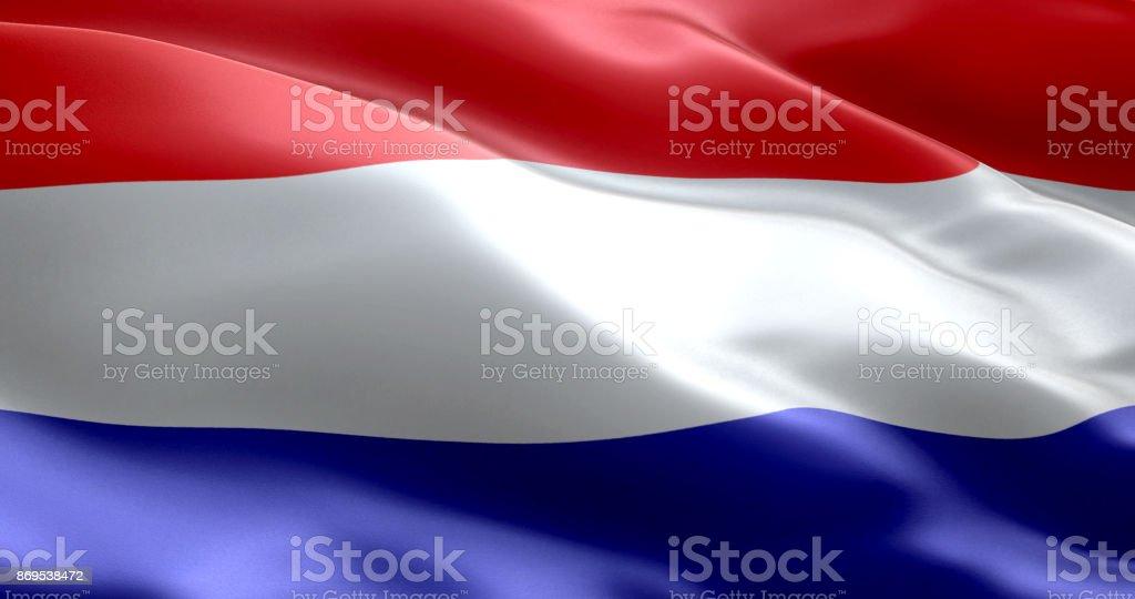 La bandera de Holanda - foto de stock