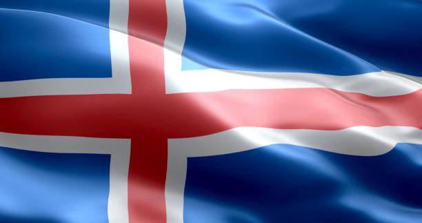A bandeira da Islândia - foto de acervo