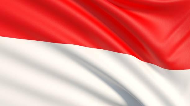 a bandeira da indonésia - bandeira da indonesia - fotografias e filmes do acervo