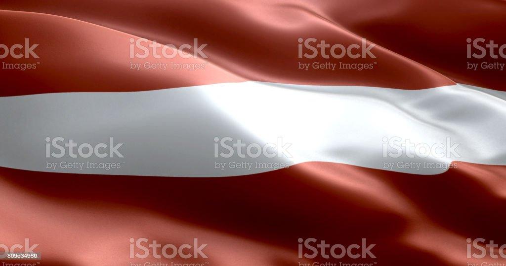 The flag of Latvia