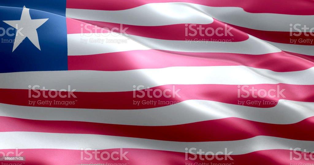 The flag of Liberia stock photo