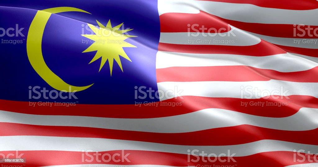 A bandeira da Malásia - foto de acervo