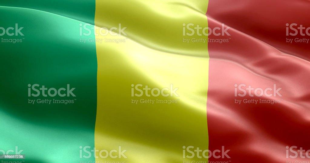 A bandeira do Mali - foto de acervo