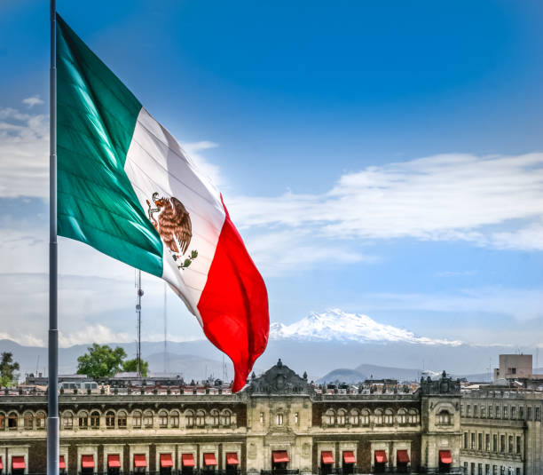 Discovery Mexico - National Flag stock photo