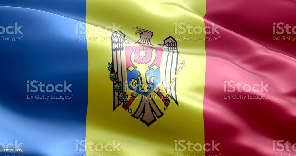 The flag of Moldova stock photo