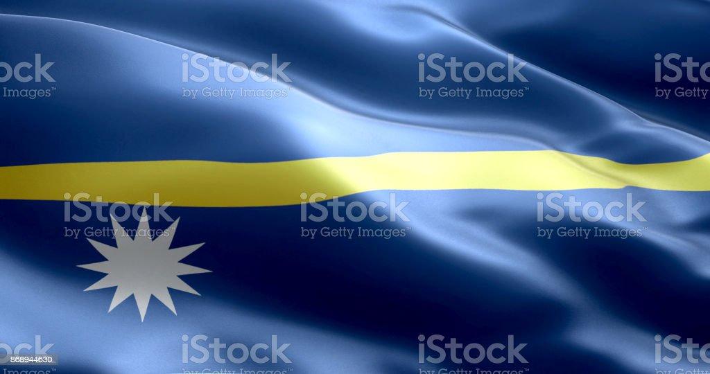 The flag of Nauru stock photo