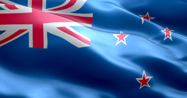 the flag of new zealand - new zealand flag stock photos and pictures