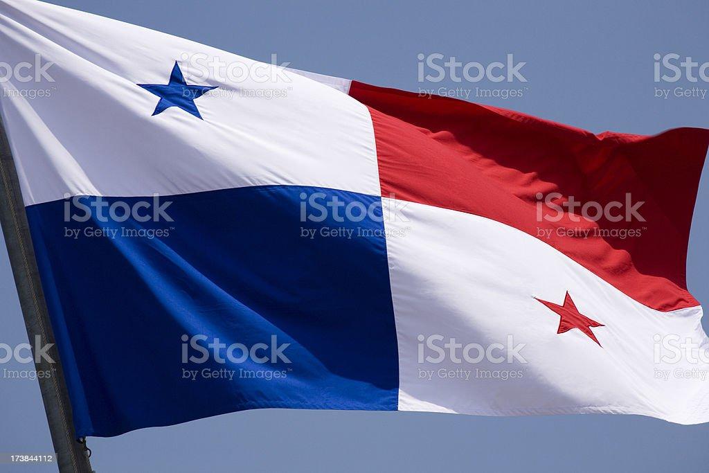 a bandeira do Panamá, voando em uma brisa. - foto de acervo