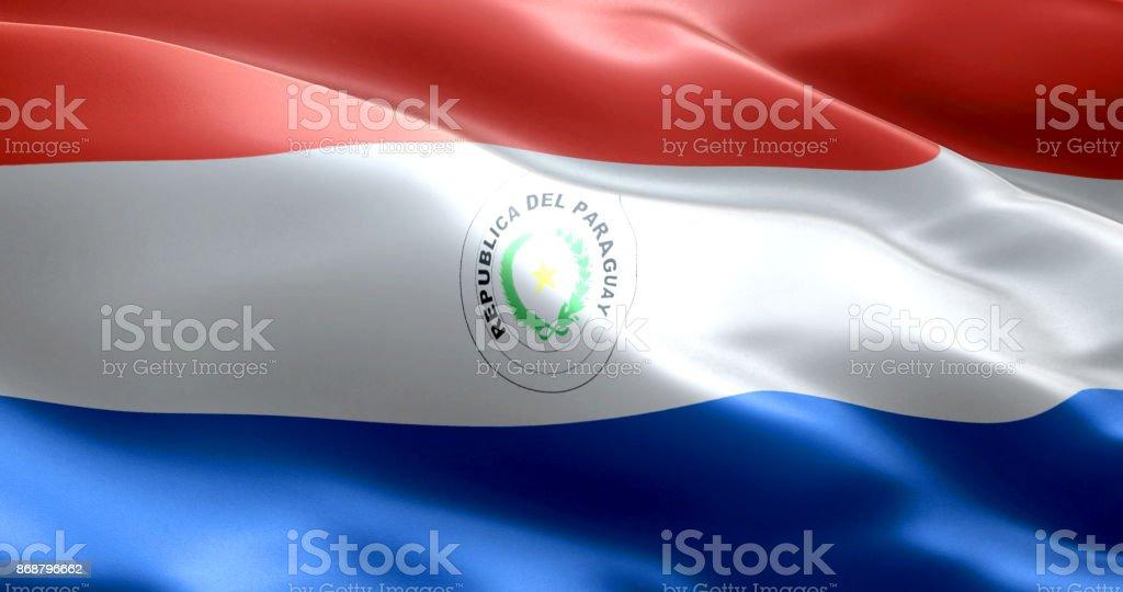 La bandera de Paraguay - foto de stock