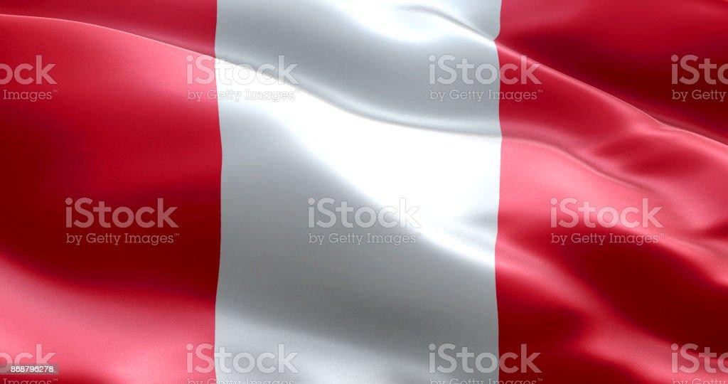 The flag of Peru stock photo