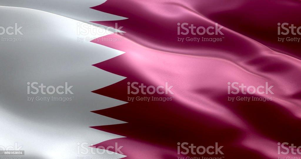 La bandera de Qatar - foto de stock