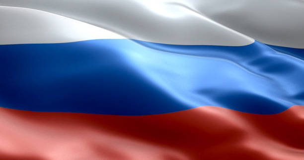 the flag of russia - russia stock pictures, royalty-free photos & images