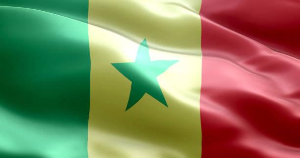 A bandeira do Senegal - foto de acervo