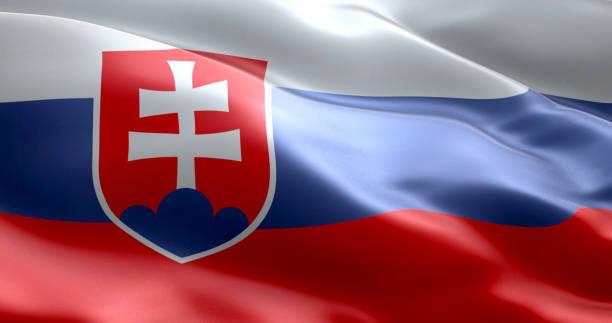 이 ~의 플래그 슬로바키아 - 슬로바키아 뉴스 사진 이미지