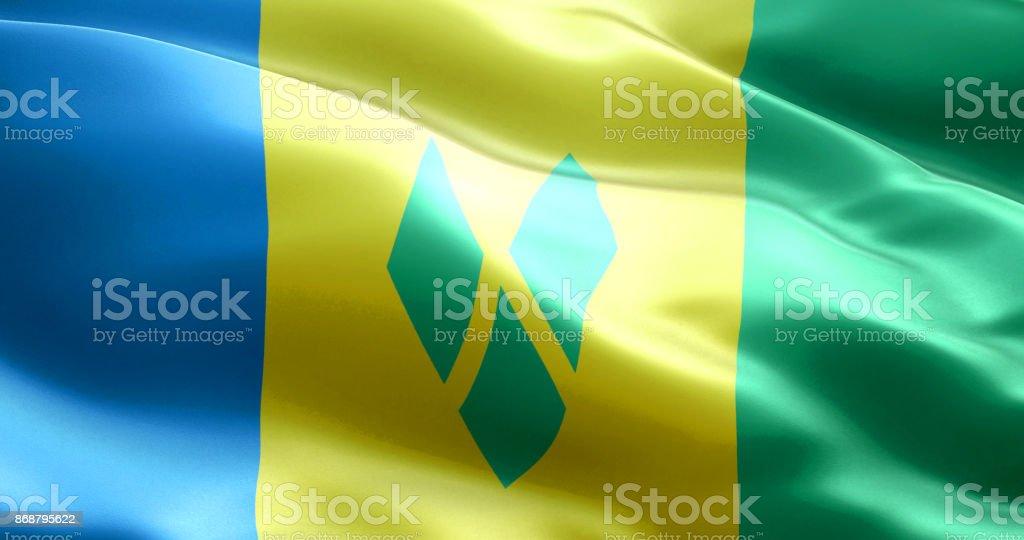 A bandeira de São Vicente e Granadinas - foto de acervo