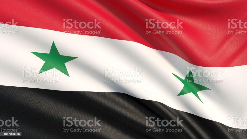 La bandera de Siria - foto de stock