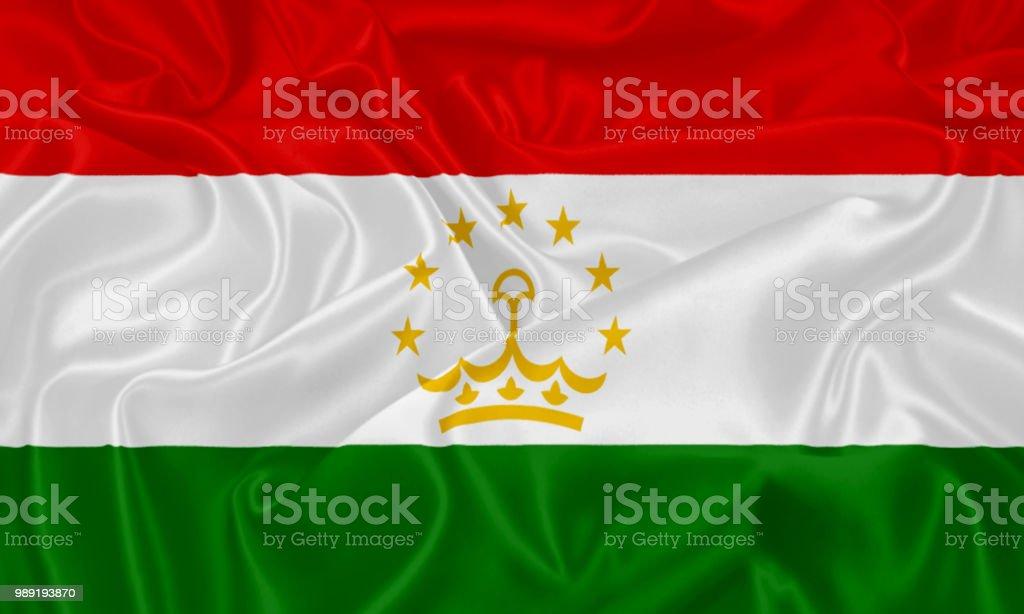 The flag of Tadzhikistan stock photo