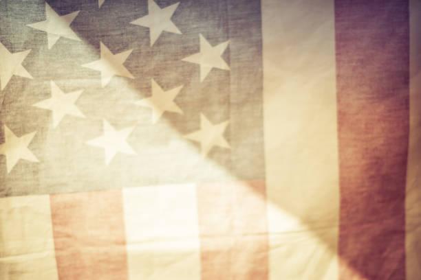 アメリカ合衆国の旗。 ストックフォト