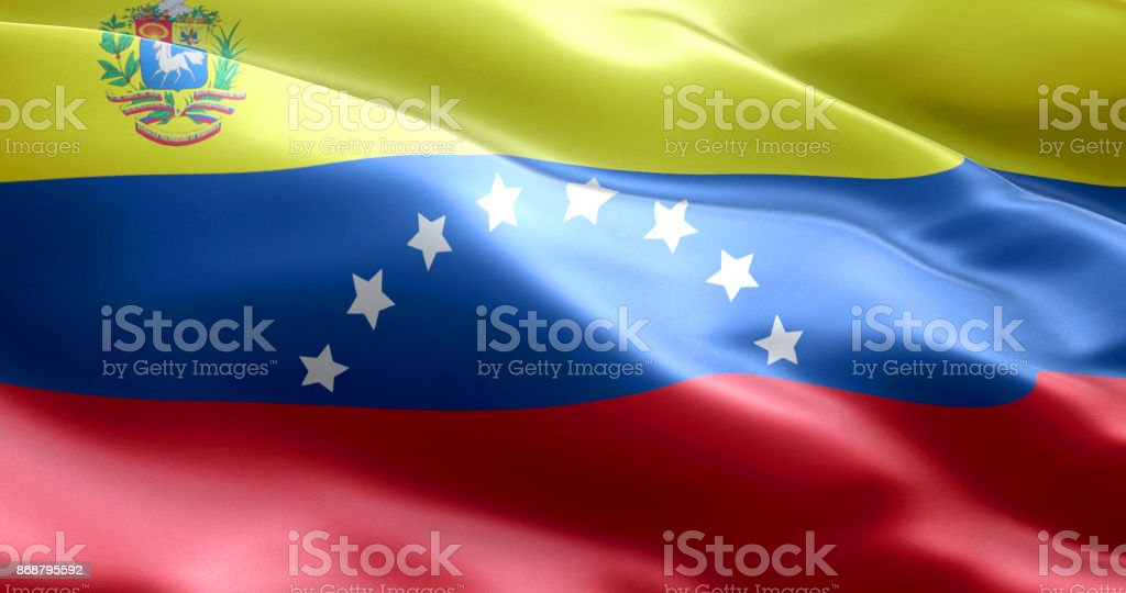 La bandera de Venezuela - foto de stock