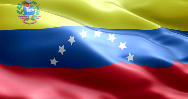 the flag of venezuela - venezuelan flag stock photos and pictures