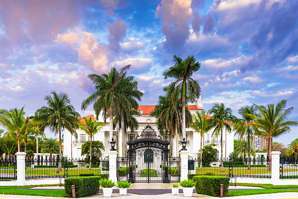 The Flagler Museum stock photo