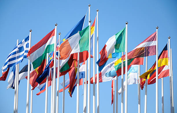 las banderas de los países de la unión europea - andalusian flag fotografías e imágenes de stock