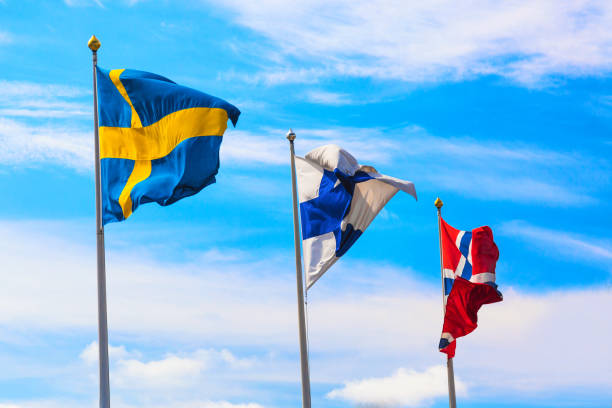 The flags of the countries of scandinavia sweden finland and norway picture id1133789342?b=1&k=6&m=1133789342&s=612x612&w=0&h=qvkgqzyrp6ienpiqxemwnfp0ryenvjm2rlpzklgg4vk=