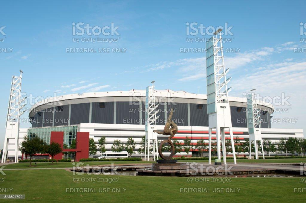 The Flair and Georgia Dome in Atlanta stock photo